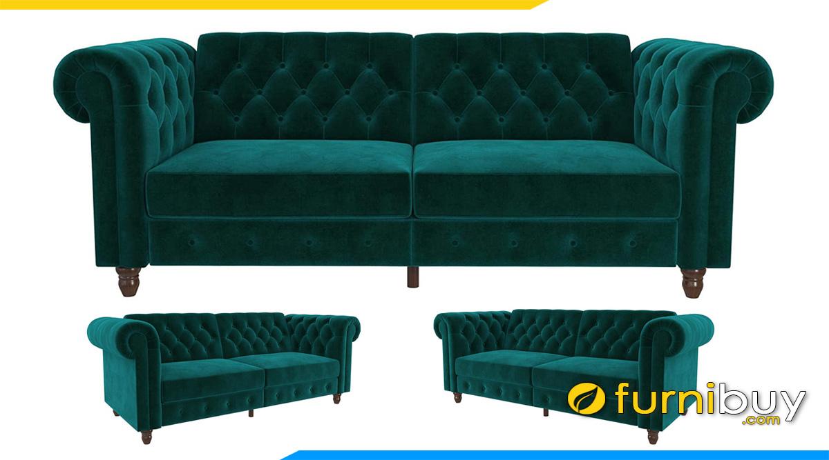 mau ghe sofa vang tan co dien mau xanh