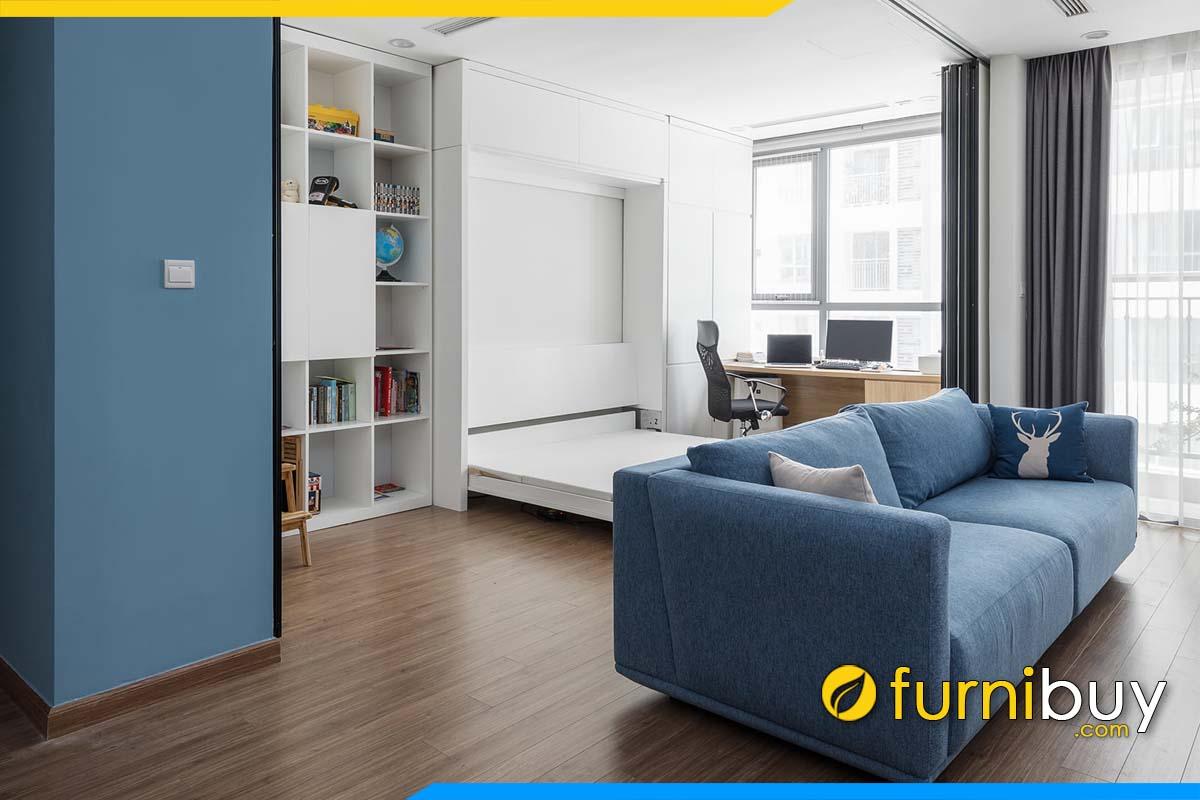 sofa vang ni co may mau xanh