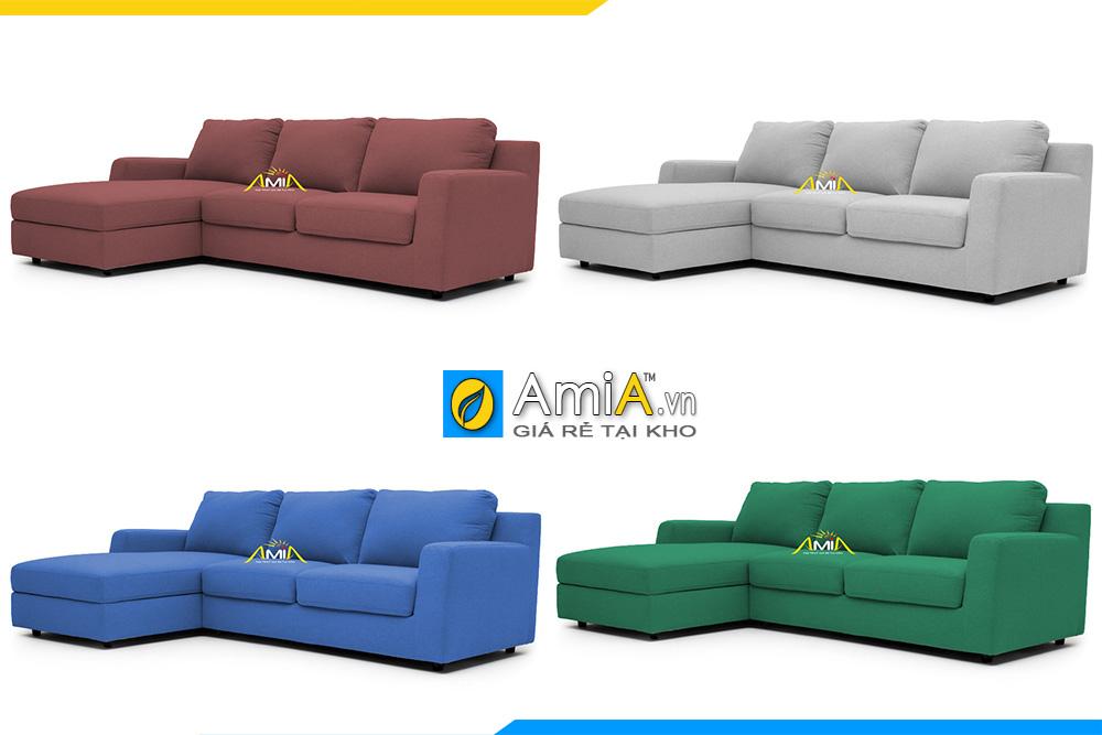Mẫu ghế sofa góc AmiA 20227 có thể làm theo yêu cầu khách hàng về bất kì màu sắc nào
