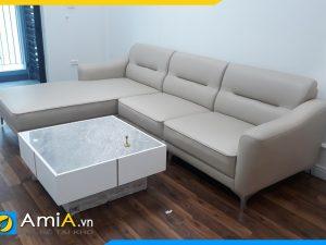 Sofa góc chữ L bằng da