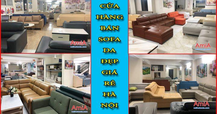 Cửa hàn bán ghế sofa da rẻ